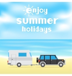 enjoy summer holidays vector image