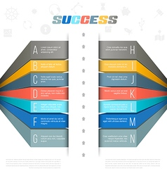 Modern bar origami style step options banner vector image