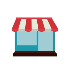 shopping online store building graphic vector image