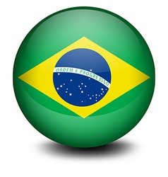 A ball with the flag of Brazil vector image vector image