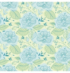 blue flowers seamless pattern vector image vector image