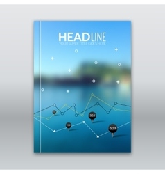 Business templates for brochure flyer report or vector image