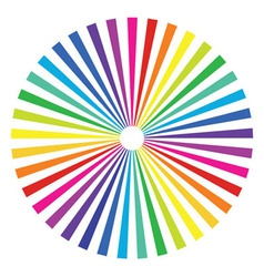 colored rainbow background vector image vector image