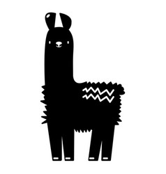 llama icon simple black style vector image