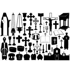 Set of religious elements vector