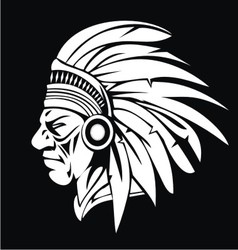White indian head vector