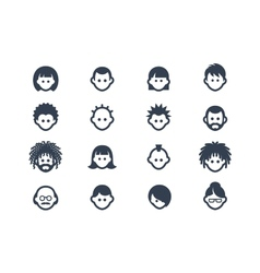 Avatar and user icons vector image vector image