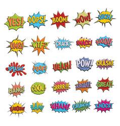 comic bubble sound icon for vector image