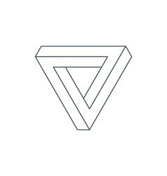 Penrose triangle vector