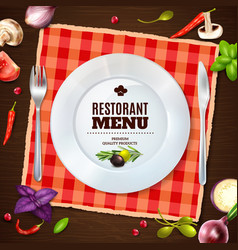 Restaurant Menu Realistic Composition Backgroud vector image vector image