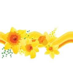 seamless pattern with daffodils vector image vector image