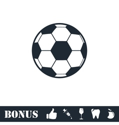 Soccer ball icon flat vector image