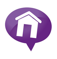 speech bubble with real estate house icon vector image