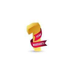 1 year warranty logo icon template design vector