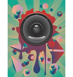 Abstract Audio Speaker2 vector image