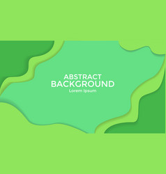abstract background green color paper cut vector image