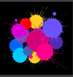 abstract background multicolored paint stains vector image