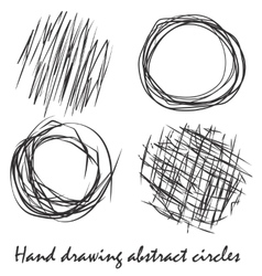 Abstract circles painted by hand vector