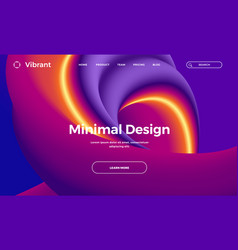 abstract design template with 3d flow shapes vector image