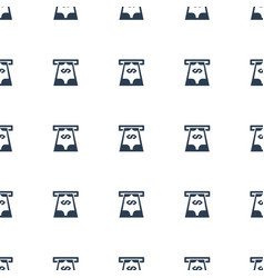 Atm money withdraw icon pattern seamless white vector