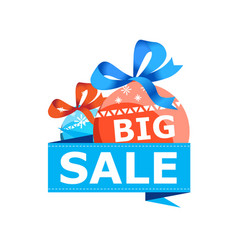 big christmas sale isolated sticker vector image