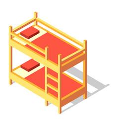 Bunk bed isometric vector