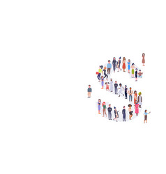 businesspeople crowd gathering in letter s shape vector image