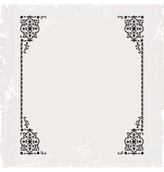 Calligraphic ornate vintage frame border vector