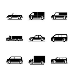 car model sport truck van transport vehicle vector image
