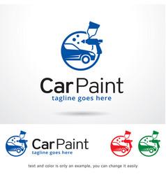 Car paint logo template vector