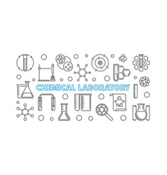 chemical laboratory outline minimal vector image