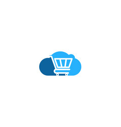 cloud shopping logo icon design vector image