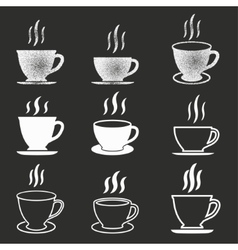 Coffee cup icon set vector