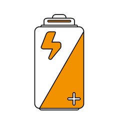 color silhouette image cartoon alkaline battery vector image