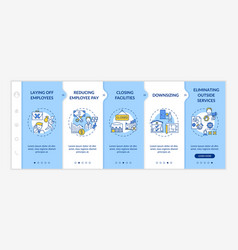 Cost cutting measures onboarding template vector