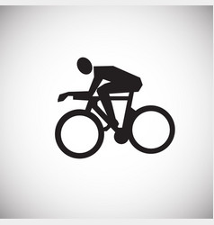 cycling on white background vector image