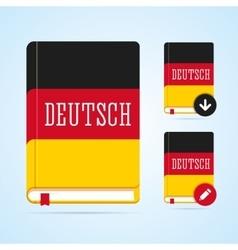 Deutsch book with download and edit vector