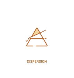 Dispersion concept 2 colored icon simple line vector