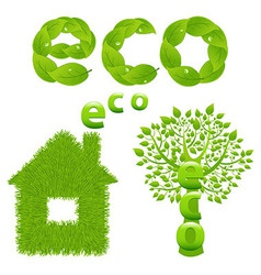 Eco Design Elements vector