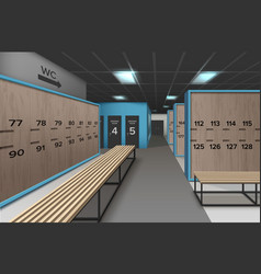 Empty locker room vector