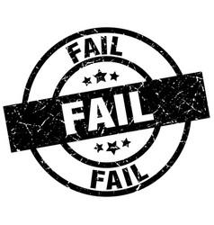 Fail round grunge black stamp vector