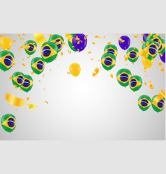 festival celebrated brazilian colorful vector image