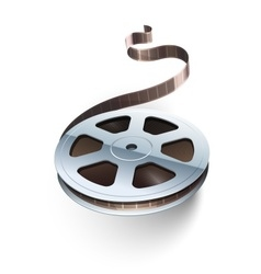 Film tape cinematography video vector