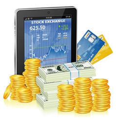 Financial Concept - Make Money on the Internet vector