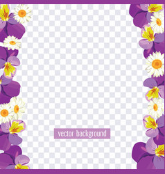 floral borders on transparent background vector image