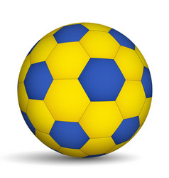 Football ball blue-of yellow color vector