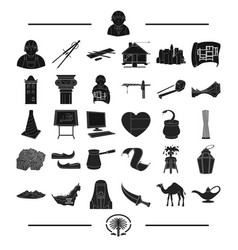 History architecture design and other web icon vector