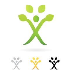 human tree symbol vector image vector image