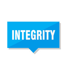 Integrity price tag vector
