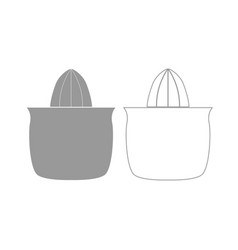 juicer squeezer grey set icon vector image